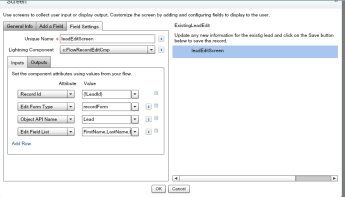 Specify edit fields from Flow to Lightning Component – tccloud