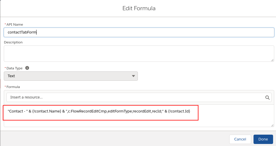 multi tab flow formula example